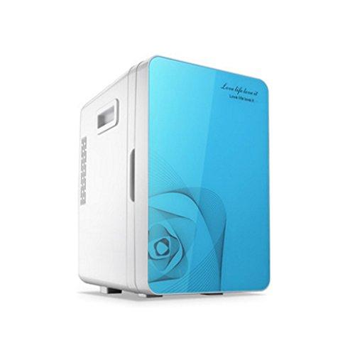 KUN PENG SHOP 20L Double système Mini voiture mini-frigo maison mini-dortoir voiture à domicile double usage chaud et froid (Couleur : Ocean blue)