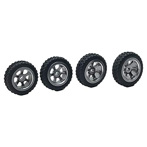 Sharplace Neumáticos y Ruedas de Goma para Coche RC, Cubo Hexagonal de 20 mm para neumáticos de Coche WLtoys 1/28 K969 K979 K989 P929 (Paquete de 4) - Titanio