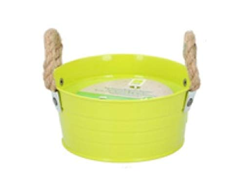 Citronella Candle Bucket Large Indoor Outdoor Garden Camping Citronella Scented Candles (Green, 10 Hours)