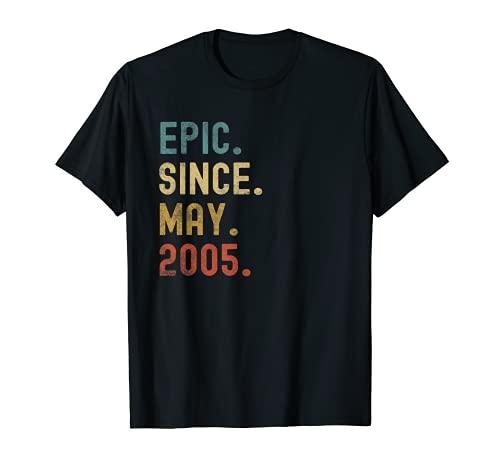 Impresionante Epic Desde Mayo 2005 16th Birthday 16 Years Old Tees Camiseta