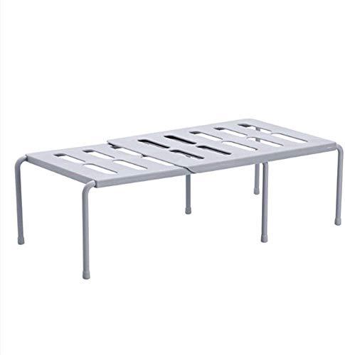 Uitbreidbare plank - Vrijstaande keukenplank voor keukenkasten aanrechtbladen pantrys - Uitbreidbare kastplank gemaakt van kunststof (grijs)