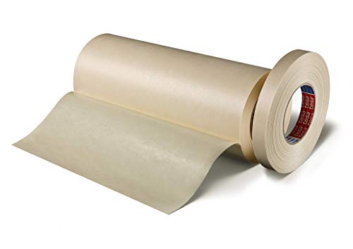Tesa 4432 Schleifenband für Sandwiches, glatt, Naturgummi, selbstklebend, 330µm, 50 m x 100 mm, transparent, 8 Stück