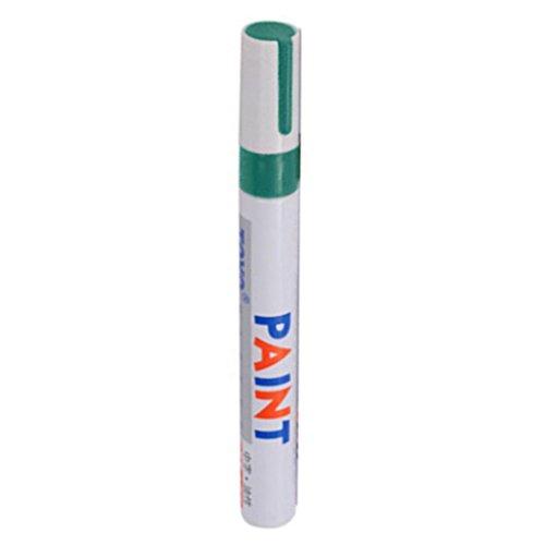 Geshiglobal - Rotulador permanente con base de aceite, universal e impermeable, para neumáticos de automóvil, artes y manualidades., color verde
