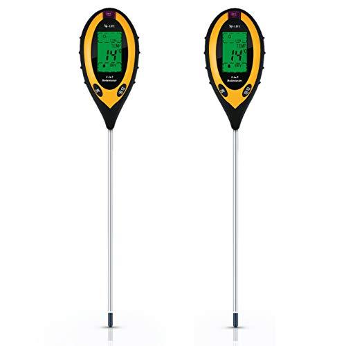 X4-LIFE 4-in-1 Bodentester 2er Set - Bodenmessgerät für pH-Wert, Temperatur, Feuchtigkeit und Licht - Balkon- Garten- Zimmerpflanzen