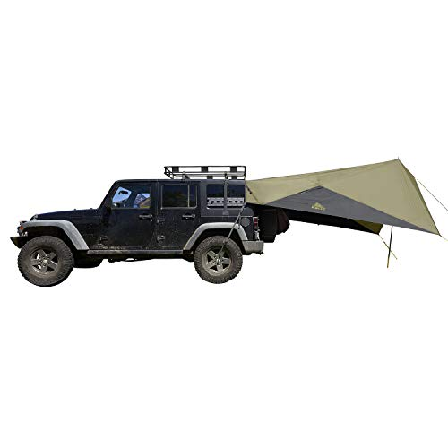 Kelty Waypoint Tarp, Car Camping and Tailgating Shelter, Universal Vehicle Mount