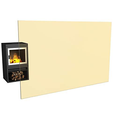 Temprix Kaminglas & Ofenglas - Ofenscheibe & Kaminscheibe 305 x 305 mm | Temperaturbeständig bis 800° C | » Wunschmaße auf Anfrage « | feuerfestes Glas für Kamin & Ofen