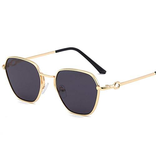 Gafas De Sol Mujeres Hombres Gafas De Sol Vintage Metal Marco Gafas Señoras Espejo Gafas Uv400 Adecuado para Compras De Viajes Al Aire Libre Y Tomar El Sol Etc-Negro