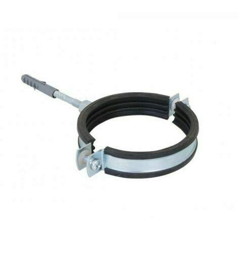 1 clip de tubo de 108 mm a 116 mm con forro de goma con tornillo y tubo de tubo de metal
