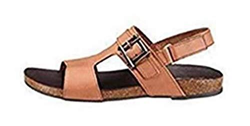 Eddie Bauer Sandale Damen Leder Cognac Gr. 36