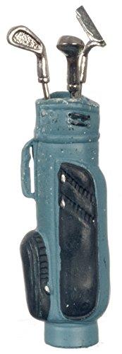 Melody Jane Puppenhaus Golftasche mit Golfschläger Blau Miniatur 1:12 Hall Outdoor Zubehör