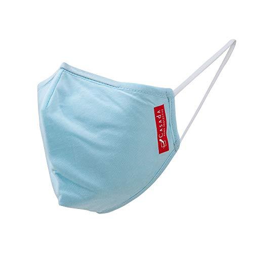 Nano Maske hellblau ab 5er Set Casada wieder lieferbar - Gesichtsschutz Hygiene Schutzmaske Mehrwegmaske Mundschutz Wiederverwendbar Waschbar (5)