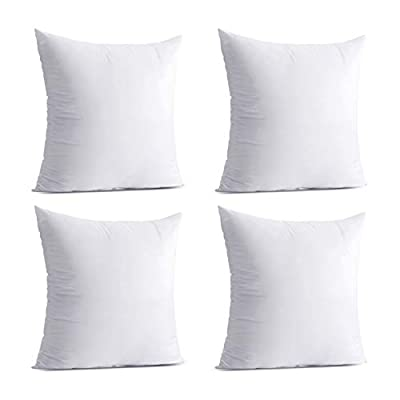 Calibrate Timing Pack of 4 Hypoallergenic Throw Pillow Inserts
