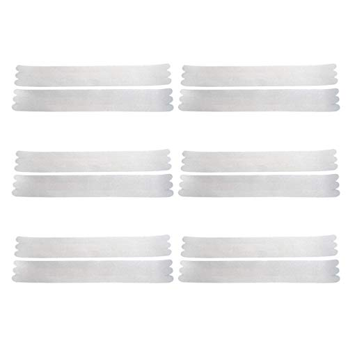 Loneflash 12PCS Best Product For Shower Adhesive Bath Grip Stickers Non-Slip Shower Strips Anti Slip Safety Bathtub Stickers Treads to Prevent Slippery for Bath Tubs, Pools, Stairs