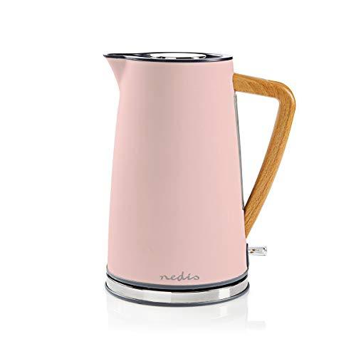 Nedis Elektrischer Wasserkocher, 1,7 l, weich, Rosa