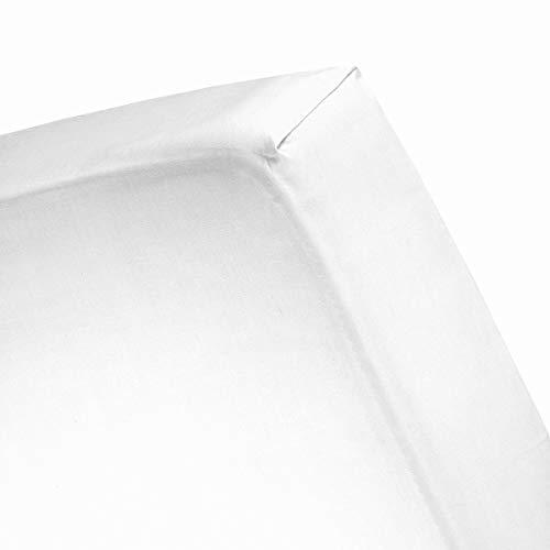 Cinderella hoeslaken flanel White Lits-jumeaux XW - XL (200x200/210)