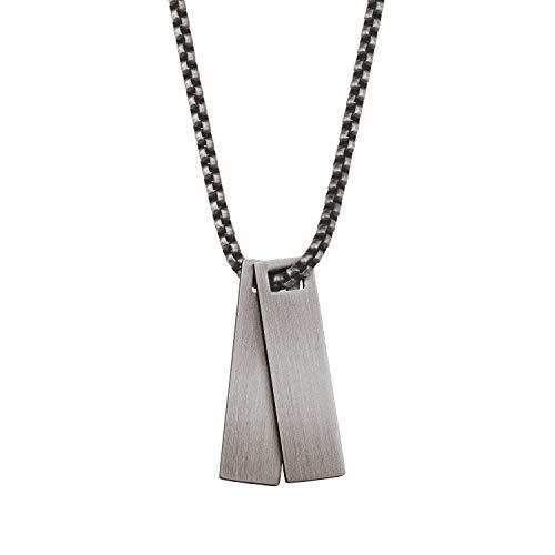 s.Oliver ketting met hanger voor heren, roestvrij staal, 60 cm