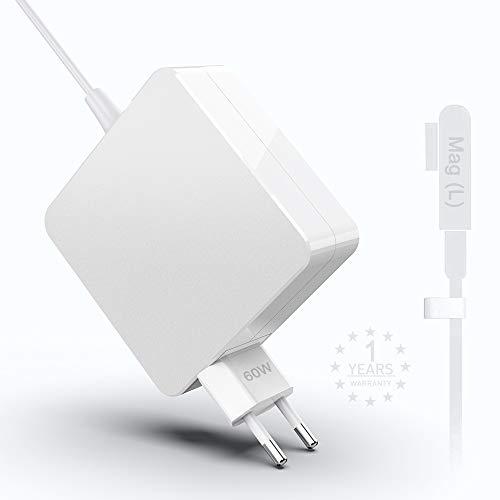 Eletrand Mac Book Pro Cargador 60W L-Tip Power Connector Adaptador Cargador para Mac Book Pro de 13 Pulgadas Antes de Mediados de 2012 Modelo A1181 A1185 A1278 A1280 A1330 A1342
