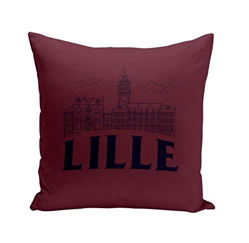 Coussin 40x40 cm Lille Minimalist Ville France Nord Histoire