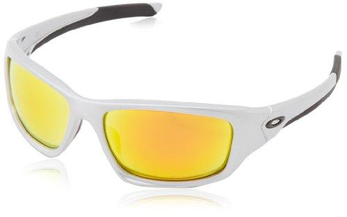 Oakley - Gafas de sol Rectangulares Valve, Silver/Fire Iridium Polarized (S3)