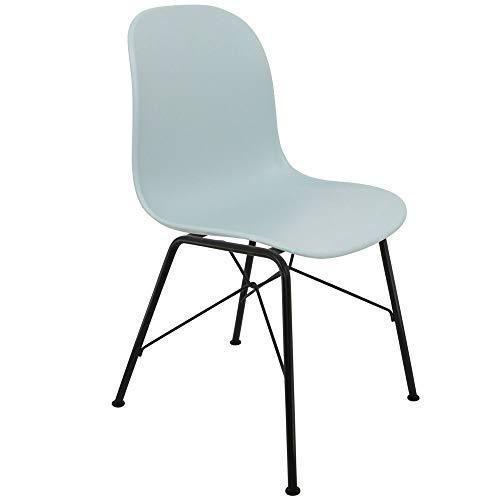 Chaise Privee™ - Stuhl Skandinavischer Bristol SNR - Eisblau, Schwarz