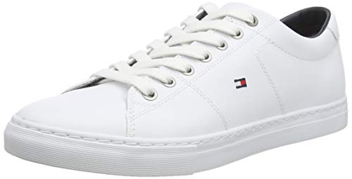 Tommy Hilfiger, Zapatillas Hombre, Blanco (White 100), 44 EU
