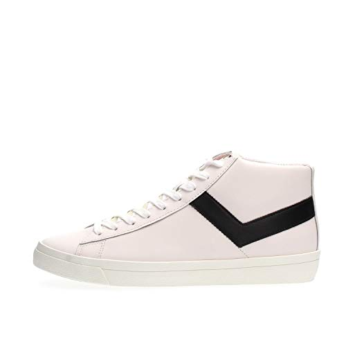 PONY 170Q Topstar HI Sneakers Hombre White Black 42