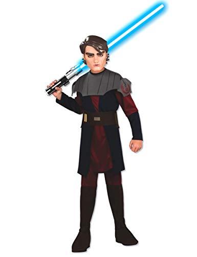 Star Wars Clone Wars Anakin Skywalker Kostüm Kinder Kinderkostüm Karneval 8-10 Jahre