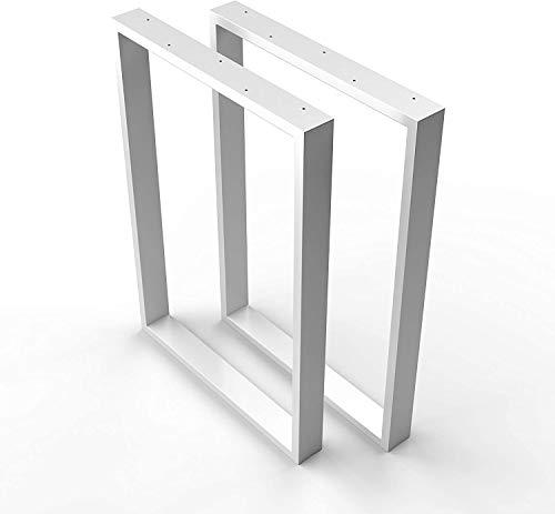sossai® Design Gambe per tavolo in acciaio   Set di 2   struttura tavolo   larghezza 50 cm x altezza 72 cm   TKK1   colore: bianca