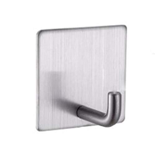 Mjkl Gancho autoadhesivo de acero inoxidable para el hogar, 5 unidades, para baño de cocina, gancho montado en la pared