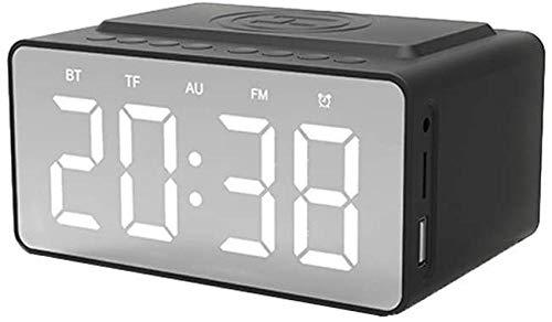 Digitale wekker met Bluetooth-stereoluidspreker Radio Draadloos opladen met USB-oplader AUX TF-kaart Netvoeding LED-kinderwekker bij het bed