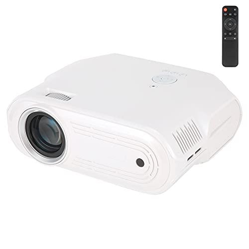 Mini Proyector, Proyectores de Video LCD LED HD 1080P Portátiles, TV para el Hogar Al Aire Libre Juego de Fiesta de Películas Proyector Pequeño, Compatible con Tarjeta HDMIAVVGAUSBTF(Blanco)