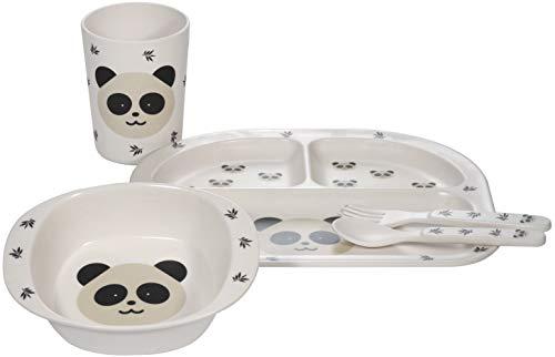 Kindsgut Vajilla para bebé, panda blanco