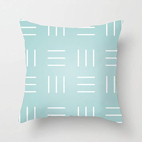 YXYLQ 2020 New Light Blue Cushion Cover Modern Geometry Decorative Pillows Cover Sofa Bed Couch Throw Pillows Case Home Decor-45X45Cm_Drd155-6