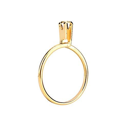 iFCOW Soporte de anillo, anillo de piedra titular de piedra preciosa desnuda diamante garra de exhibición de garras de joyería herramienta