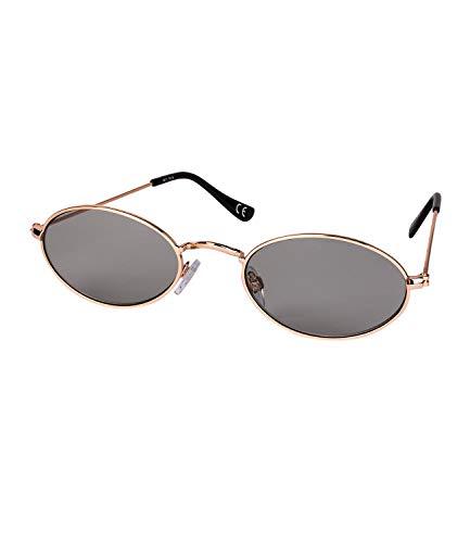 SIX Damen Sonnenbrille in ovaler Form mit grauen Gläsern, UV-Filter (324-537)