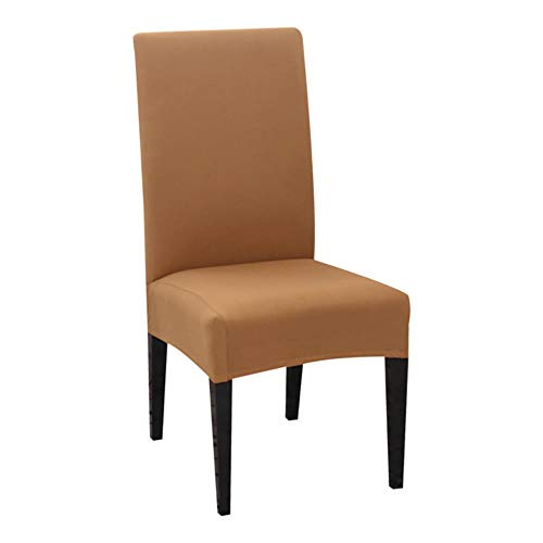 NA 1/2/4/6PCS Solid Color Chair Cover Spandex Stretch Elastic Chair Covers Banquet Hotel Kitchen Wedding Slipcovers for Dining Room,B-7,United States
