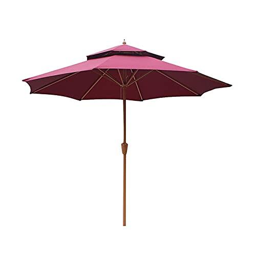 Sombrilla Sombrilla Sunbrella de 8.9 pies y 2 niveles, sombrilla de jardín para patio con 8 varillas resistentes y ventilación para cafetería, césped, playa, barbacoa, bar, pícnic, porche, camping, ba