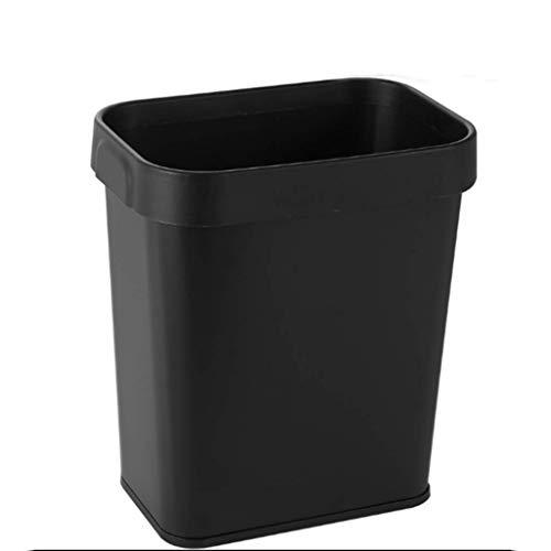 Cubos de Basura,hojalata Rectangular Bote de Basura,con presión Círculo Papeleras,3.1 galones de Capacidad,para el hogar,baño Cocina,sin Tapa cestas de Basura Cubo de Basura