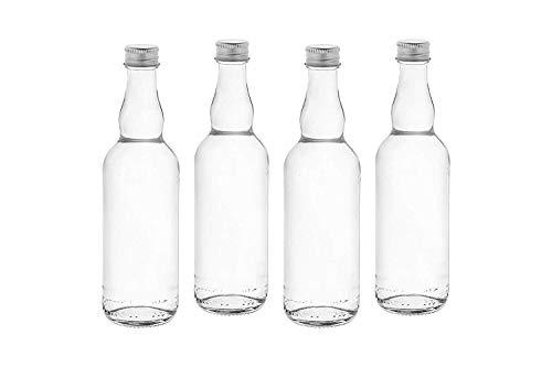 casa-vetro 50 Stück BOR-TR-100 ml Kleine Flaschen Glasflaschen Saftflaschen Likörflaschen Schnapsflaschen mit Schraubverschluss 0,1 Liter (50 x 100 TR)