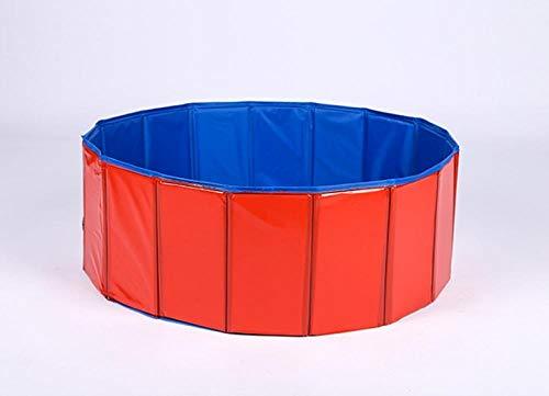 OKOUNOKO Piscinas Desmontables con Depuradora, Rojo Y Azul Oscuro, Piscina Desmontable Perro,...