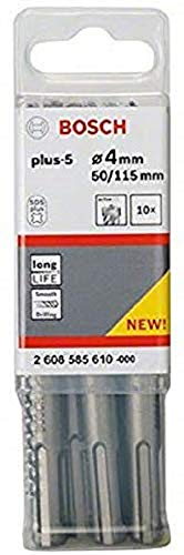 Bosch Professional Hammerbohrer SDS-plus-5 (10 Stück, Ø 4 mm)