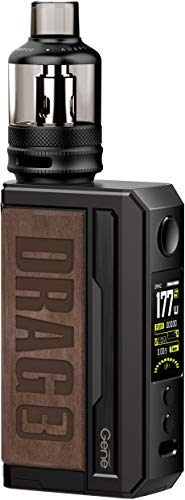 Original VOOPOOO Drag 3 177W TC Kit con Drag 3 Box Mod con 5.5ML TPP y PnP Pod Tank alimentado por batería externa dual 18650 compatible con todas las bobinas TPP