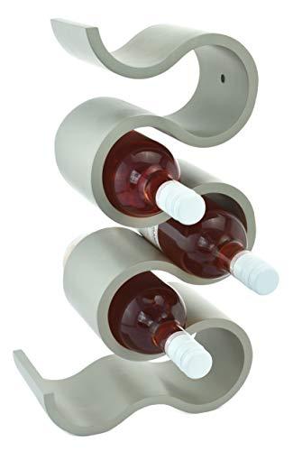 Möbelbörse Weinregal Flaschenregal Flaschenständer Weinflaschenständer für 7 Flaschen Grau Höhe ca. 41,5cm