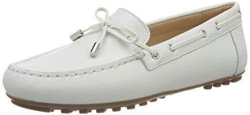 Geox D Leelyan A, Mocasines Mujer, Blanco White C1000
