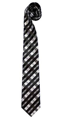 Retreez Tartan Plaid Patterns Woven Microfiber Men's Tie Necktie - 10 Colors