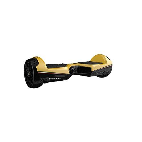 Twodots Hoverboard Glyboard Veloce Lamborghini Corse, Ruote 6.5'', Giallo
