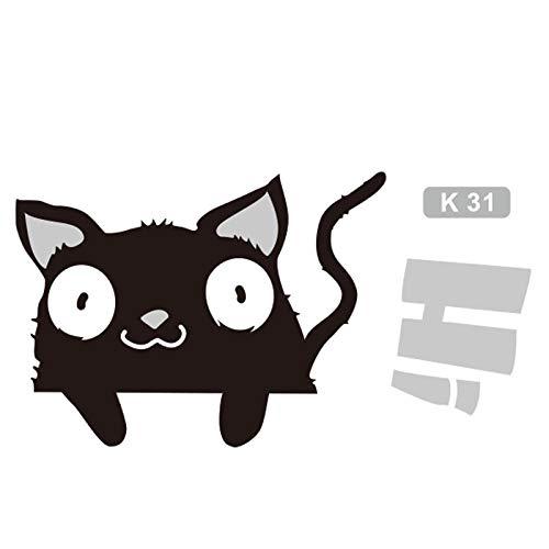 JXAA DREI Tiere Niedliche Katzen Gratis Sticker Laptop Dekorative Sticker Schlafzimmer Dekorative Wandaufkleber 17x10 cm