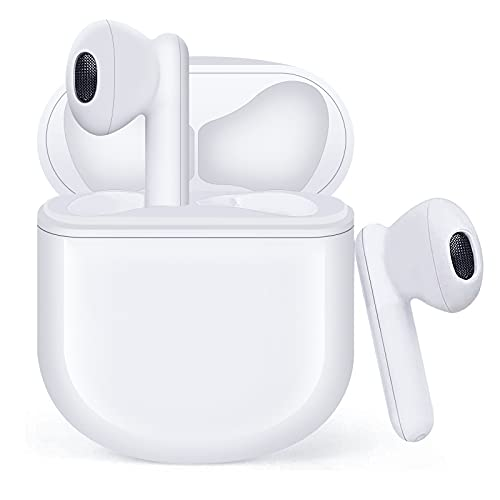 Auriculares Inalámbricos, Auriculares Bluetooth 5.1 HiFi Estéreo, Auriculares Inalambricos Bluetooth con Control Táctil, Micrófono Incorporado, IPX5, para iPhone Samsung Xiaomi Huawei
