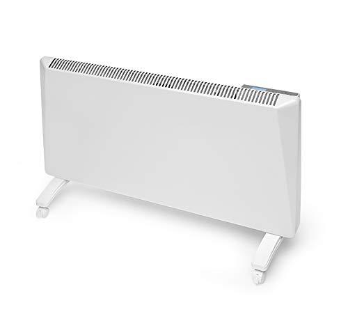 Radialight® Sirio Termoconvettore Elettrico Portatile Basso Consumo Controllo Digitale Temperatura Programmabile Eco Stufa Riscaldatore A Risparmio Energetico Protezione Umidità IP24 (1500W)