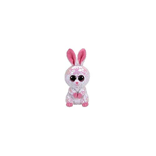TY- Flippables - TY36678 - Sequins Bonnie The Rabbit Soft Toy, 15 cm, Multicoloured